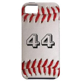 Béisbol con número adaptable funda para iPhone SE/5/5s