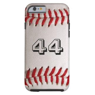 Béisbol con número adaptable funda resistente iPhone 6