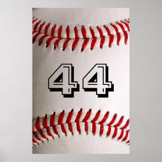 Béisbol con número adaptable impresiones