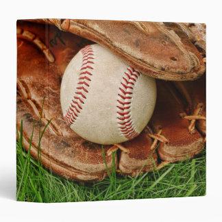 """Béisbol con un mitón viejo 1,5"""" álbum de foto carpeta 1 1/2"""""""