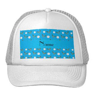 Béisbol conocido personalizado del azul de cielo gorra