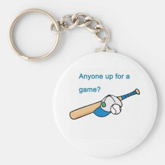 Béisbol, cualquier persona para arriba para un jue llaveros personalizados