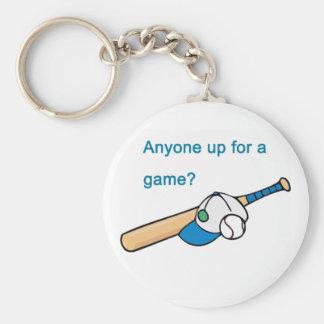 Béisbol, cualquier persona para arriba para un jue llaveros