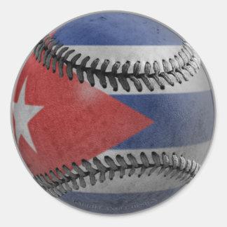 Béisbol cubano etiquetas redondas