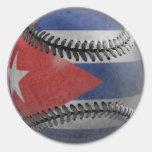 Béisbol cubano pegatina redonda