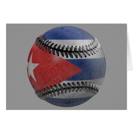 Béisbol cubano tarjeta de felicitación