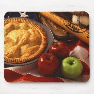 Béisbol cultural americano y bandera de la empanad tapete de ratones