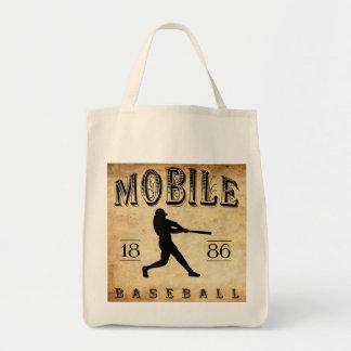Béisbol de Alabama de 1886 móviles Bolsa Lienzo