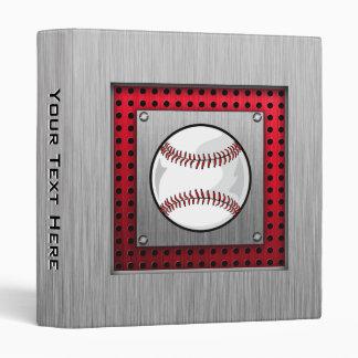 """Béisbol de aluminio cepillado de la mirada carpeta 1"""""""