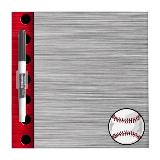 Béisbol de aluminio cepillado de la mirada tableros blancos
