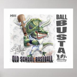 Béisbol de Busta de la bola del dinosaurio Impresiones