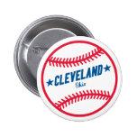 Béisbol de Cleveland Pin Redondo 5 Cm