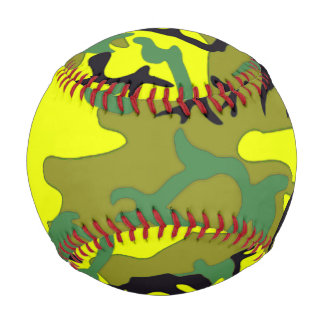 Béisbol de color verde amarillo militar del modelo