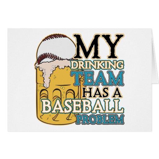 Béisbol de consumición del equipo tarjeta de felicitación