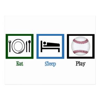 Béisbol de Eat Sleep Play Postales
