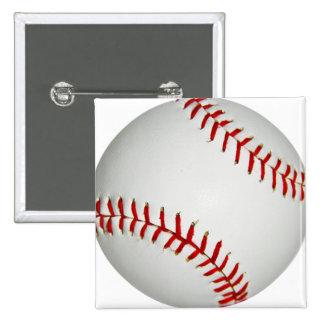 Béisbol de Estados Unidos con la costura roja gran Pin Cuadrado