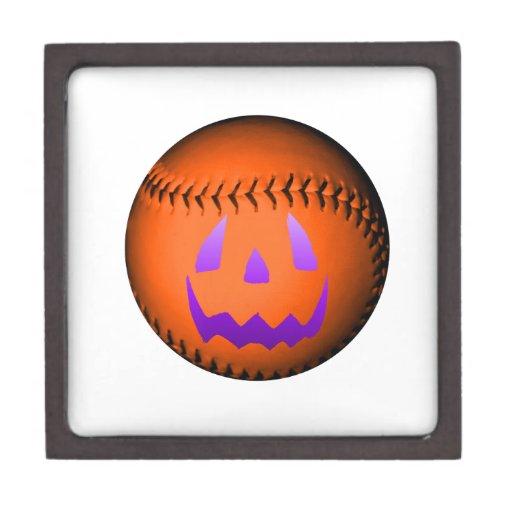 Béisbol de Halloween Cajas De Regalo De Calidad