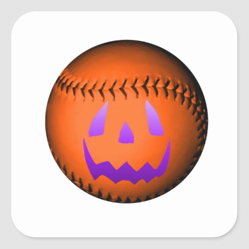 Béisbol de Halloween Colcomania Cuadrada