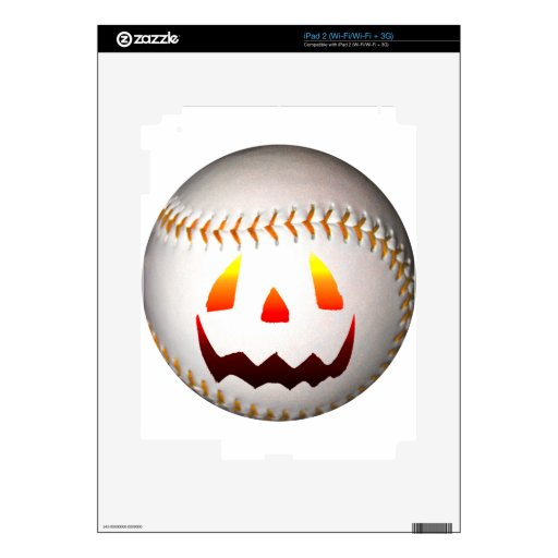 Béisbol de Halloween Jack O'Lantern iPad 2 Skin