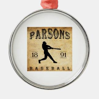 Béisbol de Kansas de 1891 párrocos Ornaments Para Arbol De Navidad