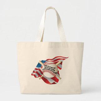 Béisbol de la bandera americana bolsas