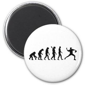 Béisbol de la evolución imanes para frigoríficos