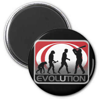 Béisbol de la evolución imán de nevera