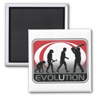 Béisbol de la evolución iman para frigorífico