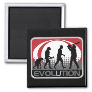 Béisbol de la evolución iman de nevera