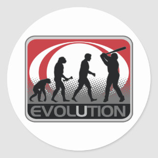 Béisbol de la evolución pegatina redonda