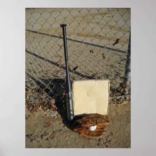 Béisbol de la foto de la estación impresiones
