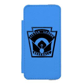 Béisbol de la liga pequeña funda billetera para iPhone 5 watson