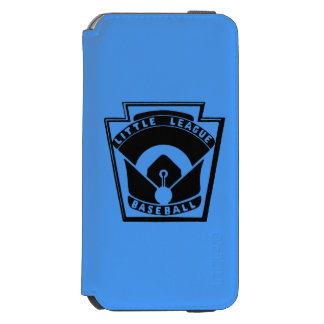 Béisbol de la liga pequeña funda billetera para iPhone 6 watson