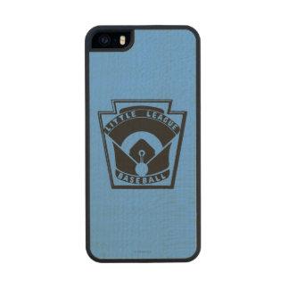 Béisbol de la liga pequeña funda de arce carved® para iPhone 5 slim