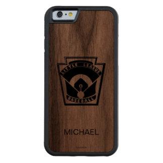 Béisbol de la liga pequeña funda de iPhone 6 bumper nogal