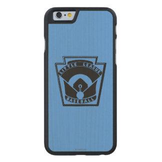Béisbol de la liga pequeña funda de iPhone 6 carved® de arce