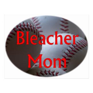 Béisbol de la mamá del blanqueador tarjetas postales