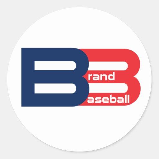 Béisbol de la marca pegatina redonda
