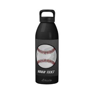 Béisbol de la mirada de la fibra de carbono botellas de agua reutilizables