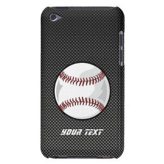 Béisbol de la mirada de la fibra de carbono iPod touch cobertura
