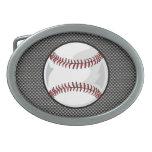 Béisbol de la mirada de la fibra de carbono hebilla de cinturon oval