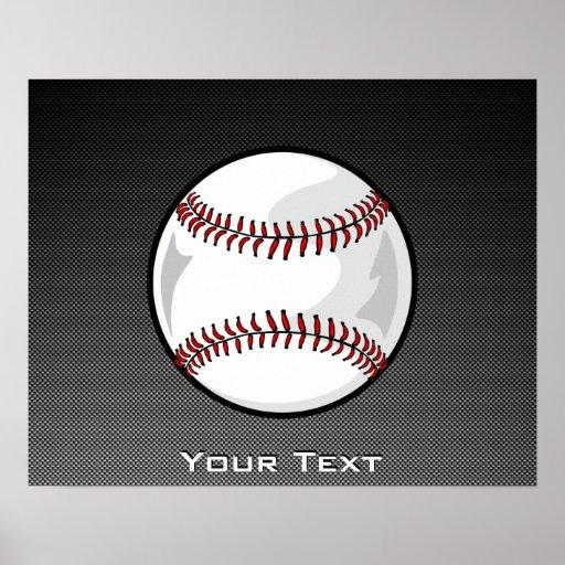 Béisbol de la mirada de la fibra de carbono póster