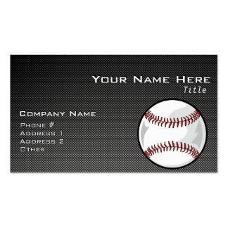 Béisbol de la mirada de la fibra de carbono plantilla de tarjeta de visita