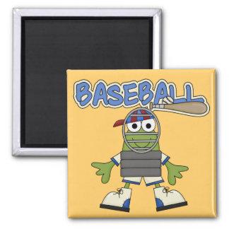 Béisbol de la rana - camisetas y regalos del colec imanes de nevera