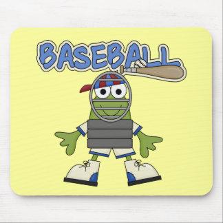 Béisbol de la rana - camisetas y regalos del colec mousepad