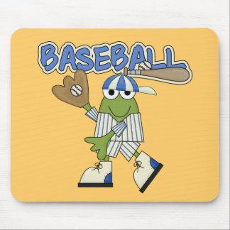 Béisbol de la rana - camisetas y regalos del colec mousepads