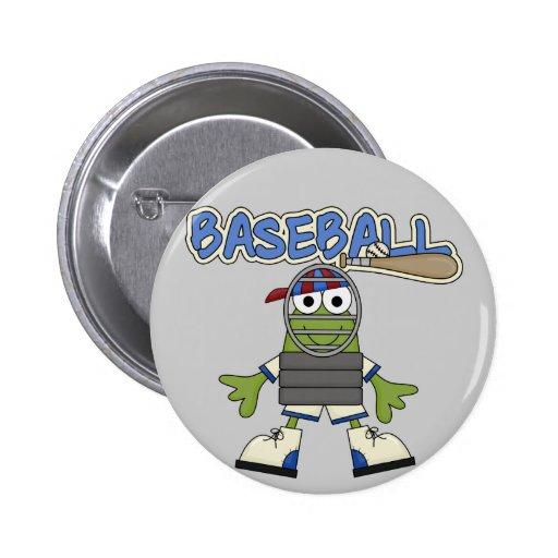 Béisbol de la rana - camisetas y regalos del colec pin redondo de 2 pulgadas