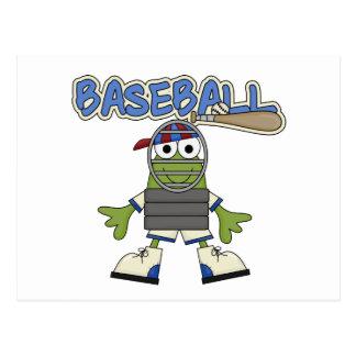 Béisbol de la rana - camisetas y regalos del tarjeta postal