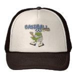Béisbol de la rana para arriba en las camisetas y  gorro