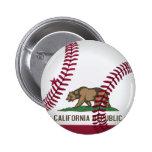 Béisbol de la república de California Pin Redondo 5 Cm